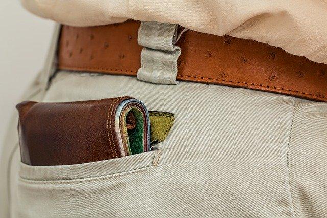 尻ポケットの財布